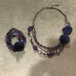 NY&Co Blue and Purple Jewelry